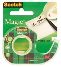 Taśma klejąca matowa Scotch Magic na podajniku 19mm x 7.6m