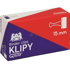 Klipsy biurowe Grand 15mm /a`12/
