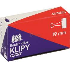 Klipsy biurowe Grand 19mm /a`12/