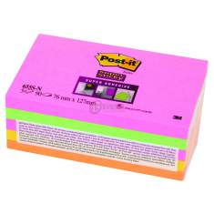 Karteczki samoprzylepne 127x76mm Post-it Super Sticky 655S-N