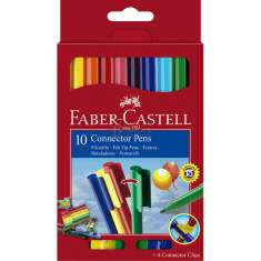 Flamastry Faber Castell Connector 10 kolorów