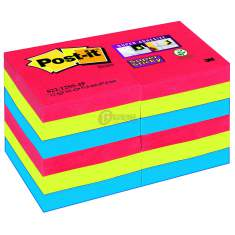 Karteczki samoprzylepne 47x47mm Post-it Super Sticky paleta bora bora