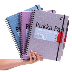 Kołozeszyt Pukka Pad Executive Project Book Metallic A4 kratka